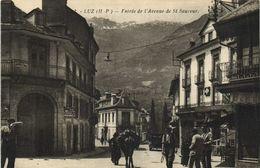 LUZ  Entrée De L'Avenue De St Sauveur Animée RV Lafoigue Et Canfranc Tarbes - Luz Saint Sauveur