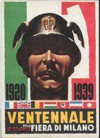 MANLIO - VENTENNALE DELLA FIERA DI MILANO - 1920-1939 - RIPRODUZIONE DI CARTOLINA D'EPOCA - NUOVA - Ferias