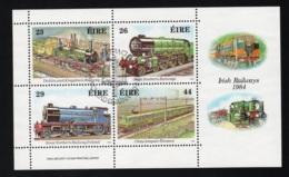 1984 Irish Railways Mi IE BL5 Sn IE 584a Sg IE MS581 AFA IE A533-536 - Blocks & Sheetlets