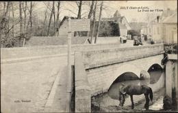 Cp Jouy Eure Et Loir, Le Pont Sur L'Eure - France
