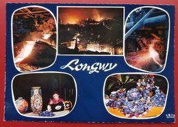 Cpsm 54 LONGWY  Multivues Acieries Emaux - Longwy