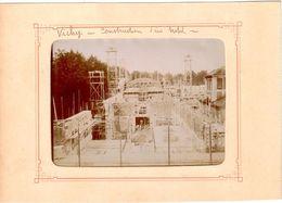 Vichy - Construction D'un Hôtel - Photo Originale Non Collée (12cm X 8,5cm) - Vichy