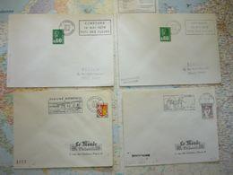 Lot De 11 Flammes De L'Ile Et Vilaine 1964-1977 - Marcophilie (Lettres)