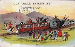 Our Local Express At PORTMADOC .  Carte 1918 - Pays De Galles