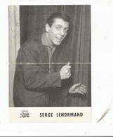 SERGE LENORMAND CHANTEUR FEUILLE PUBLICITAIRE DISQUES PATHE AVEC AUTOGRAPHE - Autographes