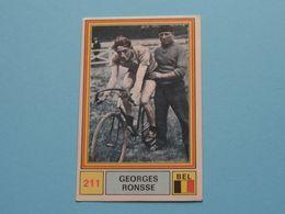 GEORGE RONSSE België ( Sprint 71 >  Nr. 211 ) - Figurine PANINI Modena ( 2 Scans ) ! - Wielrennen