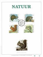 "BELG.1992 2477 2478 2479 2480 : "" NATUUR "" Filatelic Gold Card NL. Exemplaar Nr.30/500 - FDC"