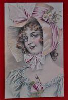 CPA Illustrateur- Femme - Mode Rétro 1908 - Chapeau - Künstlerkarten