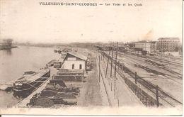 VILLENEUVE-SAINT-GEORGES (94) Les Voies Et Les Quais - Villeneuve Saint Georges
