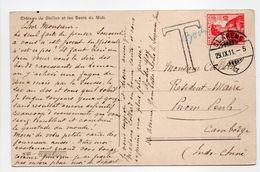 - Carte Postale CLARENS (Suisse) Pour PHNOM PENH (Cambodge) 29.9.1911 - TAXÉE 30 Centimes - - Postage Due
