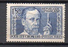 - FRANCE N° 333 Oblitéré - 1 F. 50 + 50 C. Outremer Louis Pasteur 1936 - Cote 21 EUR - - Gebraucht