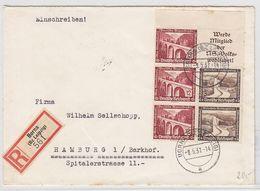 Deutsches Reich R-Brief Mit WHW ZD-Frankatur+AKs - Germany