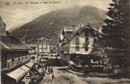 LUZ  Rue Principale Et L'Hotel De L'Univers Commerces Voitures  RV - Luz Saint Sauveur
