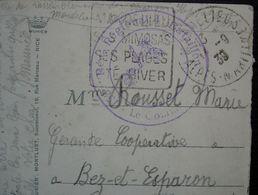 Mandelieu 1939 153e Régiment Régional, 4e Bataillon, Cachet Sur Carte Pour Bez Et Esparon (Gard) - Marcofilie (Brieven)