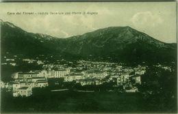 CAVA DEI TIRRENI ( SALERNO ) VEDUTA GENERALE CON MONTE S. ANGELO - EDIZIONE DELLA ROCCA - SPEDITA 1928 (BG4049) - Cava De' Tirreni