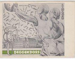 Deutsches Reich Studentika Karte Deggendorf - Duitsland