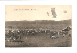 DEP. 01 AMBERIEU-AVIATION - LA PELOUSE Aérodrome, Avion, Diligences, Attelage, Foule - Aérodromes
