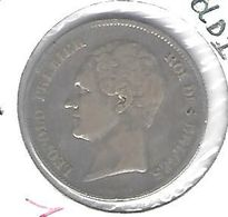 Leopold I 2 1/2 Frank Klein Hoofd -  Zilver 1849 Franstalig  -  ZEER FRAAI - M47 - 1831-1865: Léopold I.