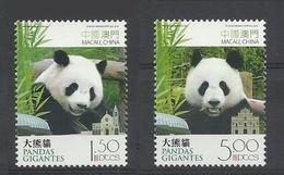 Macao Macau 2010 Yvert 1523/1524 **  Panda Pandas Geants - Superbes - Unused Stamps