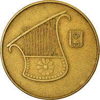 Monnaie, Israel, 1/2 New Sheqel, 1989, TTB, Aluminum-Bronze, KM:174 - Israel