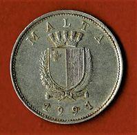 MALTE / MALTA / 25 CENTS / 1991 - Malta