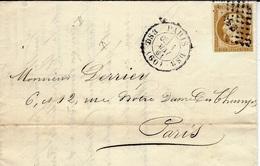 1861- Lettre De Paris Pour Paris Cad. 1528  D S 3  Affr. N°13 Oblit. Losange D S 3 - Marcophilie (Lettres)