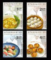 Macao Macau 2010 Yvert 1515/1518 **  Gastronomie Food - Superbes - Unused Stamps