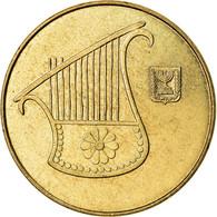 Monnaie, Israel, 1/2 New Sheqel, 1985, TTB, Aluminum-Bronze, KM:159 - Israel