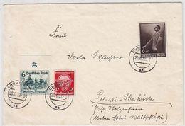 """Deutsches Reich Brief Mit MIF An Die """"Polizei-Skihütte"""" - Lettres & Documents"""