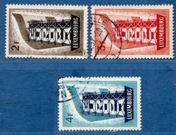 Luxemburg 1956 Cept 3 Values Cancelled 2006.2005 - 1956