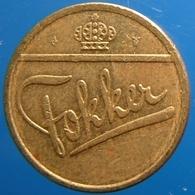 KB147-2 - FOKKER Mint Master Sign - Amsterdam Schiphol  - B 20.0mm - Koffie Machine Penning - Coffee Machine Token - Professionali/Di Società