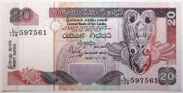 Sri Lanka - 20 Roupies - 1995 - PICK 109a - NEUF - Sri Lanka