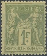 D - [52297]TB//*/Mh-c:225e-N° 82, 1F Olive-clair, Belle Fraicheur * Propre - 1876-1898 Sage (Type II)