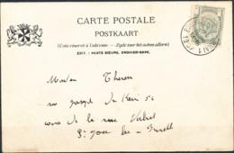 D - [55792]TB//-N° 53 Sur Carte Postale TB Obl De L'ambulant 'Bruxelles-Tournai 1' Le 21 Mars 1907 Vers St-Josse-Lez-Bru - 1893-1900 Fine Barbe