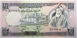 Syrie - 25 Pounds - 1991 - PICK 102e - NEUF - Syrien