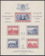 CSSR 1943 Stamp Exhibition London - Gebraucht