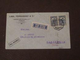Portugal Lettre Du 23 10 1936  De Porto  Pour  Marseille Via Lisbonne - Lettres & Documents