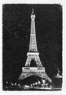 (RECTO / VERSO) PARIS EN 1958 - TOUR EIFFEL - PROJECTEURS MAZDA - TIMBRE PREOBLITERE - CPSM GF VOYAGEE - Tour Eiffel