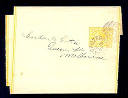 AUSTRALIA - Newspaper Wrapper With Imprinted Value, With Cancel Chiltern-Victoria 1897. Sent To Melbourne. - Unclassified