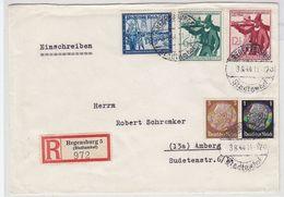 Deutsches Reich R-Brief Mit MIF+AKs - Lettres & Documents