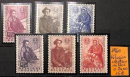 D - [821226]TB//**/Mnh-c:74e-Belgique 1960 - N° 1125/30,  Réfugiés - Belgique