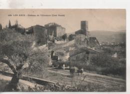 Cpa.83.Les Arcs.Château De Villeneuve.animé Attelage - Les Arcs