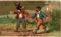 CHROMO CHOCOLAT POULAIN UN COUP DISCUTE - Poulain