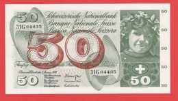 SUISSE  Billet  50 Francs  05 01 1970 - Pick 48j - AU - Suiza