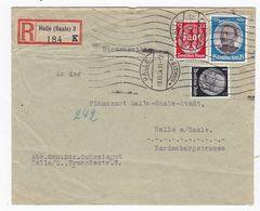 Deutsches Reich R-Brief Mit  MIF +AKs - Lettres & Documents
