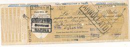 1946 SARDEGNA ITTIRI SASSARI ASSEGNO BANCA POPOLARE COOPERATIVA ANONIMA SASSARI - Chèques & Chèques De Voyage