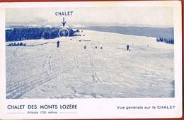 CHALET Des MONTS LOZERE- Alt 1700 Mètres- Vue Générale Sur Le Chalet- Cp Bleue- écrite Au Verso Scanné - France