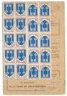 BLASON 25C MONT DE MARSAN X20 CARTE REEXPEDITION PARIS 1967 - 1941-66 Armoiries Et Blasons