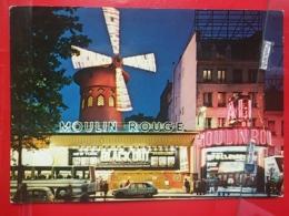 KOV 11-75 - PARIS, Moulin Rouge, Nuit, Night, Auto, Bus, - Sonstige