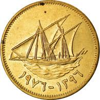 Monnaie, Kuwait, Jabir Ibn Ahmad, 5 Fils, 1976, TTB, Nickel-brass, KM:10 - Kuwait